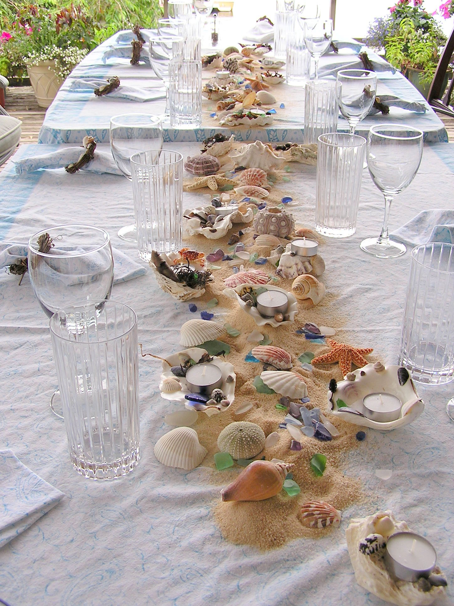 beach party decor theme table decorations an inspired kitchen 557